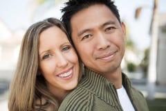 Mixed race couple. royalty free stock photo