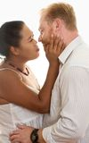 Mixed Race Embrace Stock Images