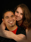Mixed race engaged couple Stock Photos