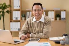 Mixed-race entrepreneur Stock Images