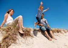 Mixed Race Family Spending the Weekend Outdoors Royalty Free Stock Image