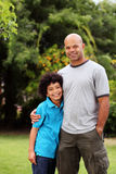 Mixed race father and son Royalty Free Stock Image