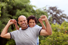 Mixed race father and son Royalty Free Stock Photography