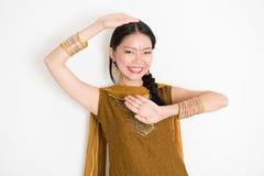 Mixed race Indian girl dancing Stock Image