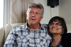 Mixed race mature couple Royalty Free Stock Image