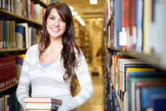 Mixed race ollege student Stock Photo