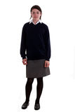 Mixed race schoolgirl posing Stock Photography