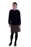 Mixed race schoolgirl posing stock photography
