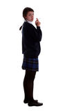 Mixed race schoolgirl smoking Royalty Free Stock Photography