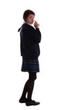 Mixed race schoolgirl smoking Royalty Free Stock Photo