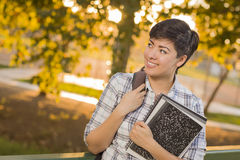 Mixed Race Student Looking Away Royalty Free Stock Photos