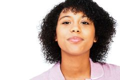Mixed race teenage girl smiling Royalty Free Stock Photo