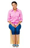 Mixed race woman sitting Royalty Free Stock Photo