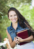 Mixed Race Young Girl Student with School Books Royalty Free Stock Photography