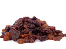 Mixed raisins Stock Photography