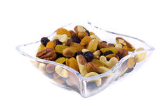 Mixed raisins and nuts Stock Photos