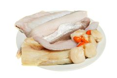 Mixed raw fish Stock Photos