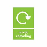Mixed recycling sign. Vector design isolated on white background Stock Photos