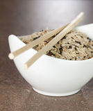 Mixed rice in a bowl royalty free stock images