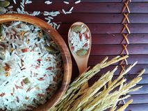 Mixed rice and grains royalty free stock images