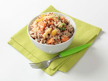 Mixed rice with vegetables stock image