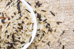 Mixed Rice (with Wild Rice) Stock Photo