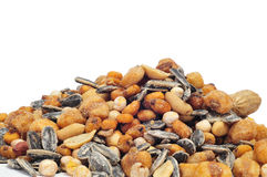 Mixed roasted nuts Royalty Free Stock Images