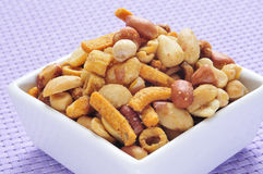 Mixed roasted nuts Royalty Free Stock Image