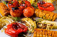 Mixed roasted vegetables Royalty Free Stock Photos