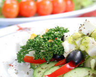 Mixed salad. Made from fresh vegetables on the plate Royalty Free Stock Photography