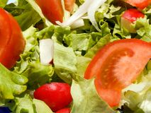 Mixed salad. Triple color mixed salad Stock Photography