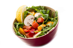 Mixed salad with arugula, mushrom Stock Photography