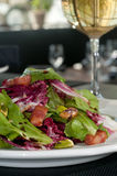 MIxed salad with bacon Royalty Free Stock Photography