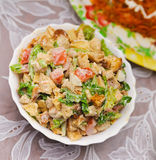Mixed salad on a blur backgrounds Royalty Free Stock Images