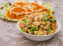 Mixed salad on a blur backgrounds Stock Images