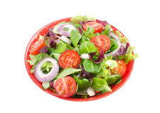 Mixed salad in a bowl. Withe background Royalty Free Stock Image
