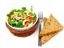 Mixed salad with bread Stock Photos