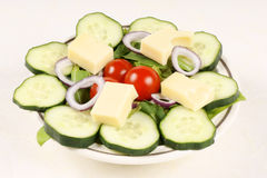 Mixed salad with cheese Stock Image