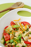 Mixed salad with chicken and cheese Royalty Free Stock Photo
