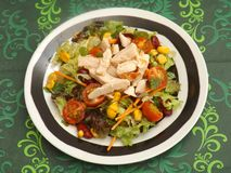 Mixed salad with chicken Royalty Free Stock Images