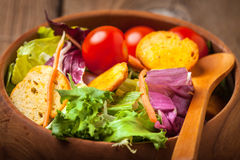 Mixed salad with croutons. Stock Photography