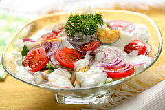 Mixed salad on the dish Stock Images