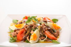 Mixed salad with eggs Royalty Free Stock Image