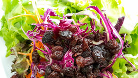 Mixed salad fruits and vegetables Stock Image