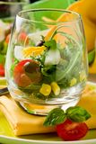 Mixed Salad inside a Glass Stock Images