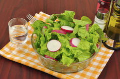 Mixed salad with lettuce and radish Stock Image