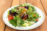 Mixed salad with liver Stock Photo