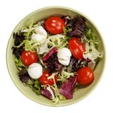 Mixed salad with mozzarella and cherry tomatoes stock photos