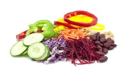 Mixed salad of raw vegetables royalty free stock image