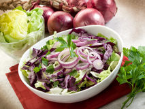 Mixed salad with red cabbage Stock Photos